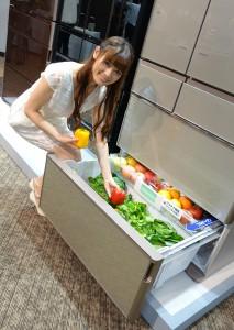 こんなに大量の野菜が収納可能!引き出しもフルオープンで野菜が迷子になることもなさそうです